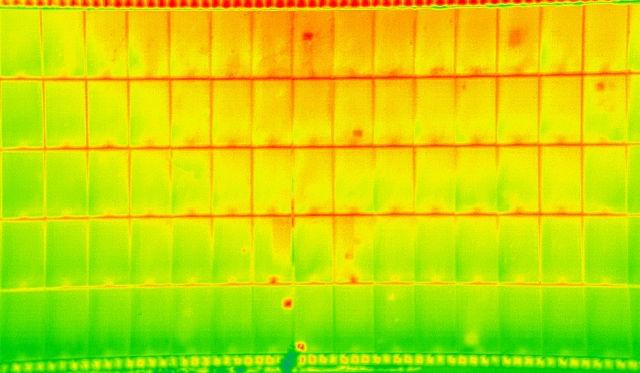 visualisation de la mesure d'une caméra thermique