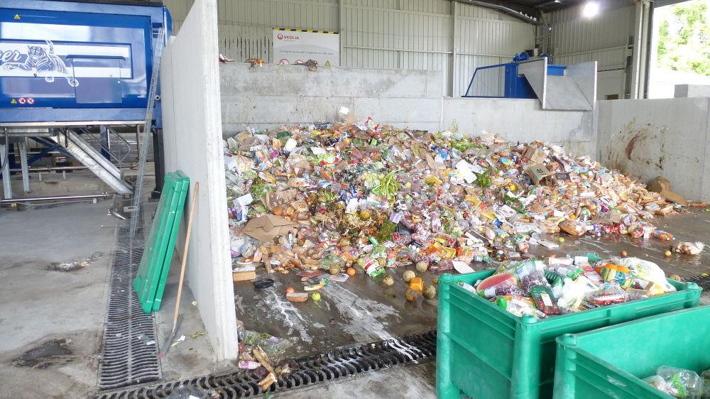 déchets à traiter et broyer chez Veolia