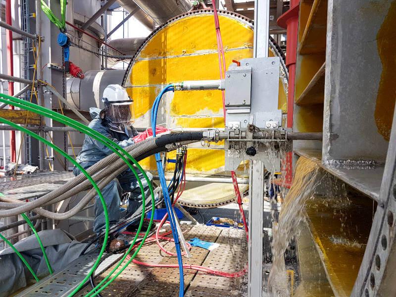 Limpieza Intercambiador mantenimiento peinemann